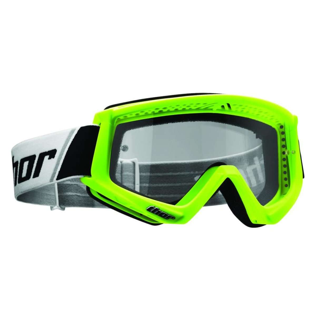 Мотоочки Thor Combat Fluorescent Green/Black