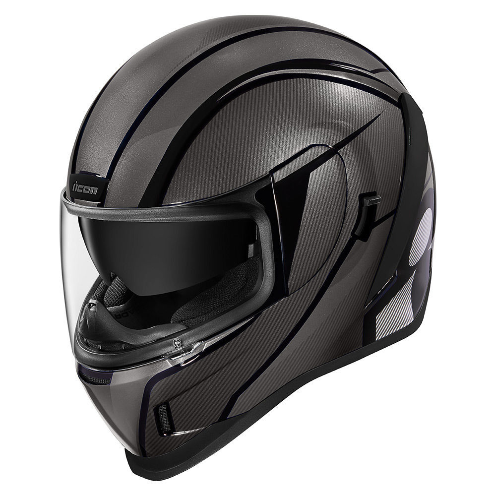 Silver RST ICON Dropshield Internal Sun Visor for Alliance GT//AirFlite Helmets
