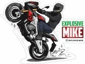 Наклейка Explosive Mike Wheelie
